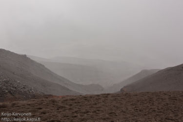 Näkymä Cotopaxin rinteiltä