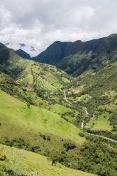 Näkymä laaksoon Quiton lähellä