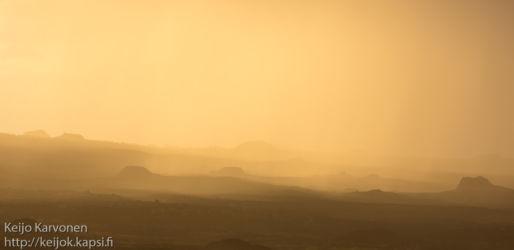Hiekkamyrsky Isla Santiago -saarella