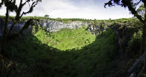 Los Gemelos, Santa Cruz, Galapagos, Ecuador